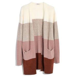 NWT Madewell Ryder Stripe Cardigan Sweater